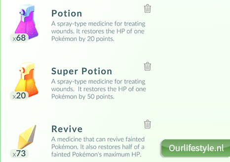 Pokemon Potions