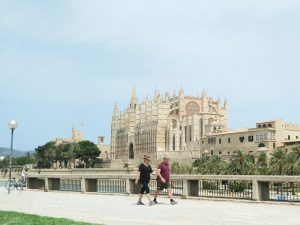 De kathedraal in Palma
